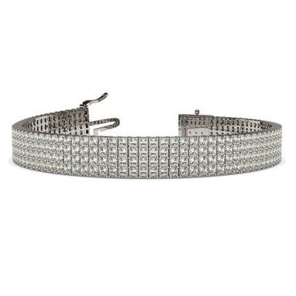 Buy Four Row Prong Setting Princess Diamond Tennis Bracelet Online UK - Diamonds Factory