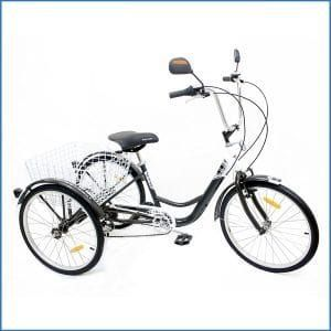 10. Komodo Cycling ATRAVEN 24″, 6-speed Adult Tricycle #