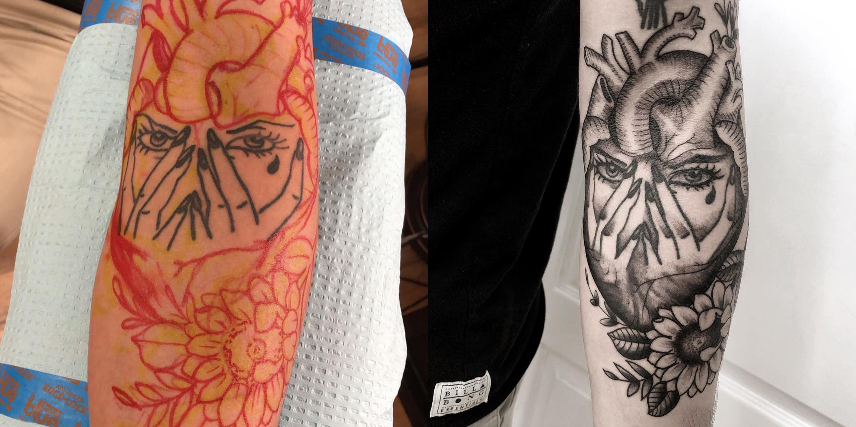 Cover up tattoo forearm cover up tattoo tattoo reworking