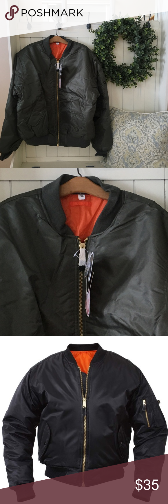 Nwt Men S Rothco Ma 1 Olive Green Flight Jacket Flight Jacket Army Bomber Jacket Jackets [ 1740 x 580 Pixel ]