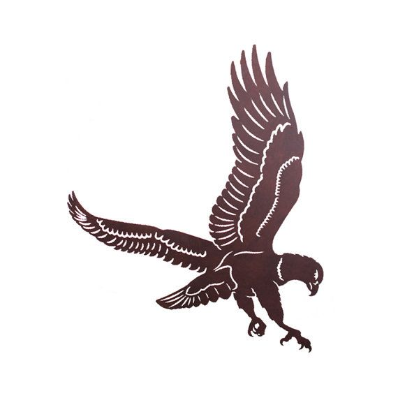 Eagle Laser Cut Wall Art Mural by CabinExclusive on Etsy