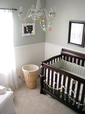 Design Dazzle Baby Nursery With Restoration Hardware Silver Sage Paint Color