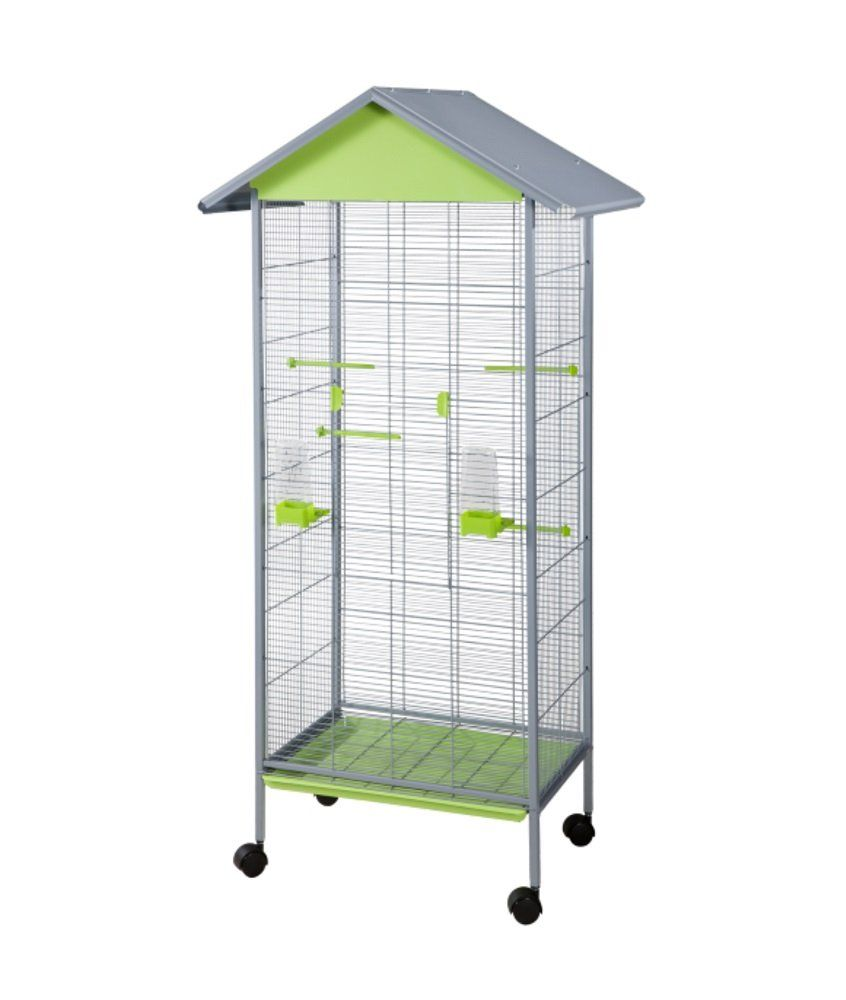 Amazon.com : 23x16x61 Solid Roof Aviary Flight Bird Cage Pistachio ...