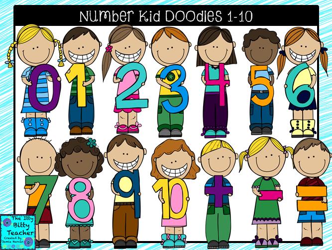 Itty Bitty Teacher Math Number Kids Kids Doodles Math Numbers Math