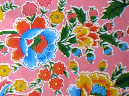 Pink Zoya Floral Mexican Fiesta Summer Dining Oilcloth Vinyl
