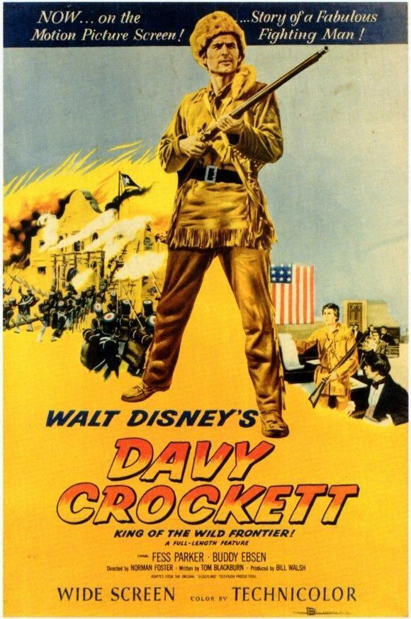 Davy Crockett Movie POSTER 27 x 40 Fess Parker Buddy Ebsen William Bakewell, A