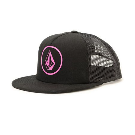 54d018dcfca The Volcom SHHH It s A Hat black trucker is a classic cotton-poly trucker  hat for Women with mesh backing for great breathability. Perfect for summer  the ...