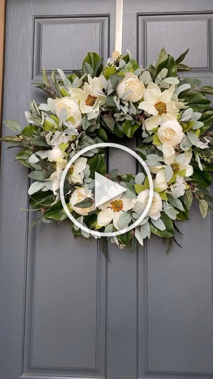 Photo of Our half peony magnolia wreath is now available in this gorgeous full wreath opt…