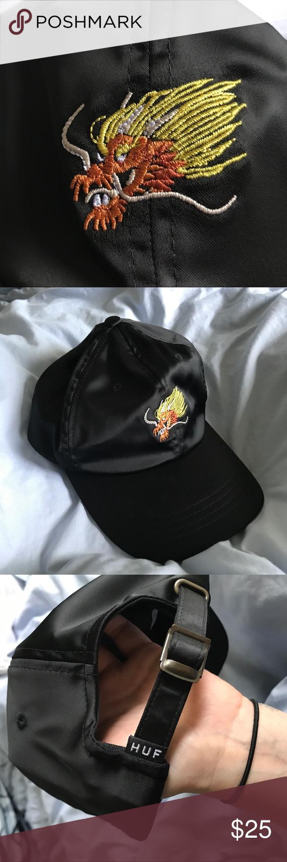 37e825e90 NWOT HUF Embroidered Dragon Baseball Dad Hat Brand new baseball cap ...