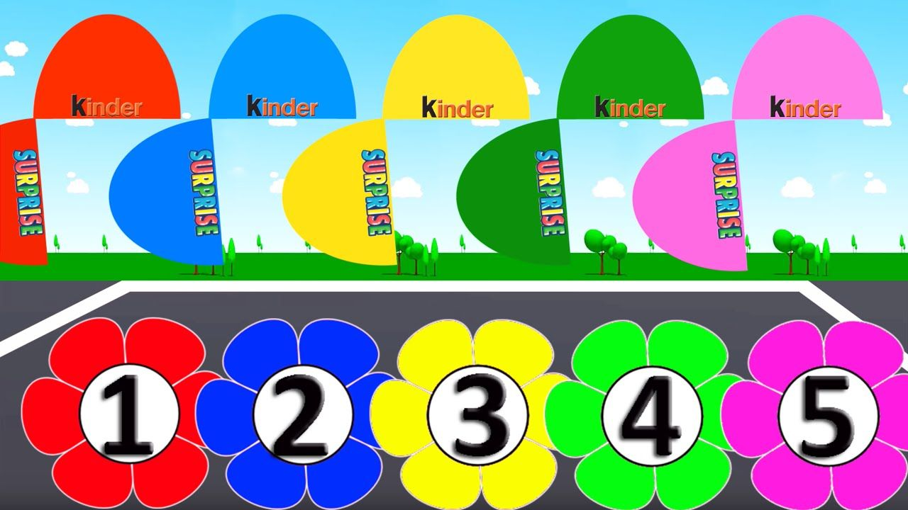 Learn Colors, Numbers with Surprises Eggs, Colours for Kids to Learn ...