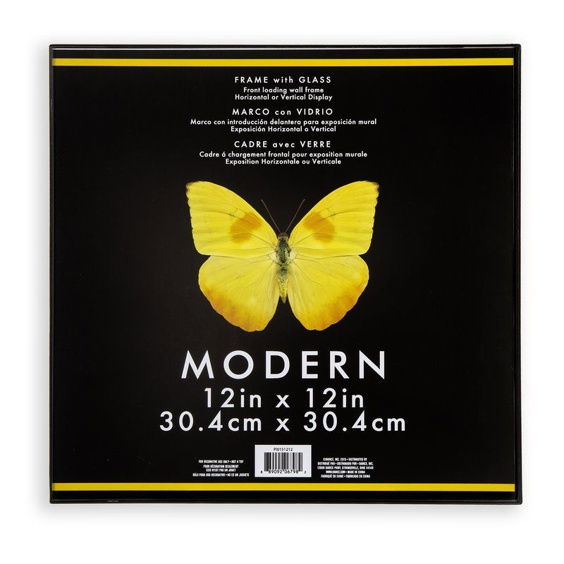 Santino Modern Picture Frame Butterfly Black Yellow Decor Modern Modern Picture Frames Modern Pictures Picture Frame Designs