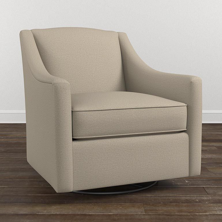 Ordinaire Contemporary Swivel Glider Chair Features An Attached Pillow Back And  Tapered Legs. Available In Fabric