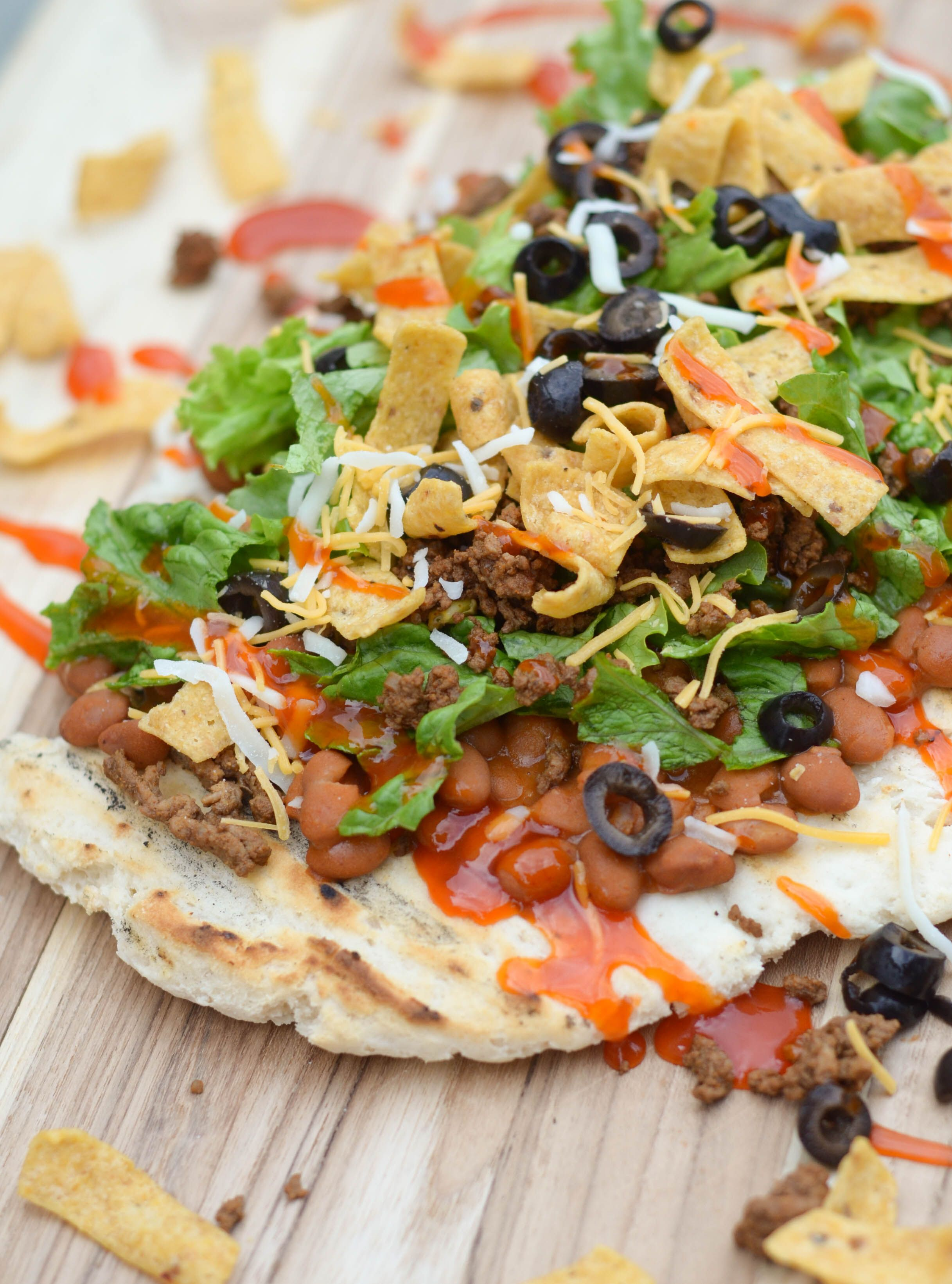 Grilled Taco Pizza - Mommy Hates Cooking