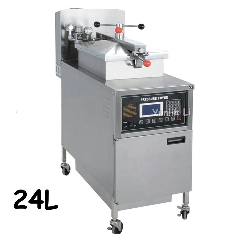 24l Gas Deep Fryer With Lcd Control Panel Digital Kfc Chicken Oil Pressure Fryer With Oil Pump Commercial Fryer Pfg 600l Pressure Fryer Commercial Fryer Gas