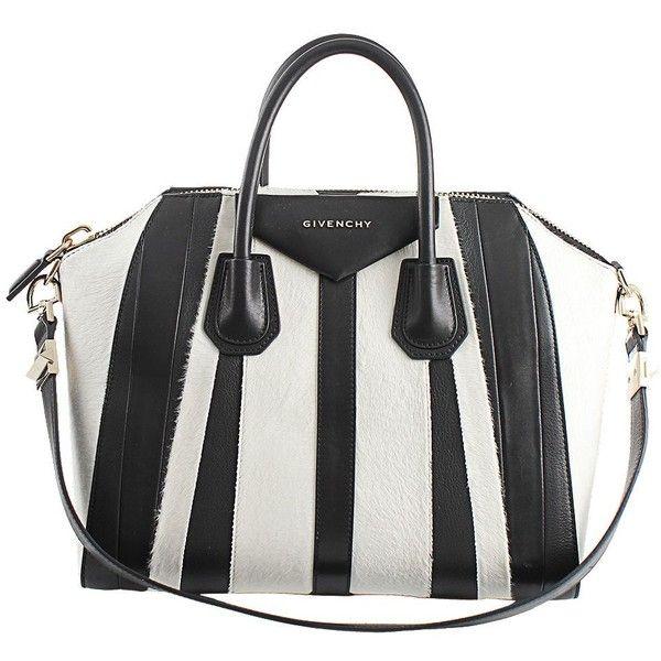 5ec45d93f6 Givenchy Antigona Stripe Medium Bag (11.550 BRL) ❤ liked on Polyvore  featuring bags