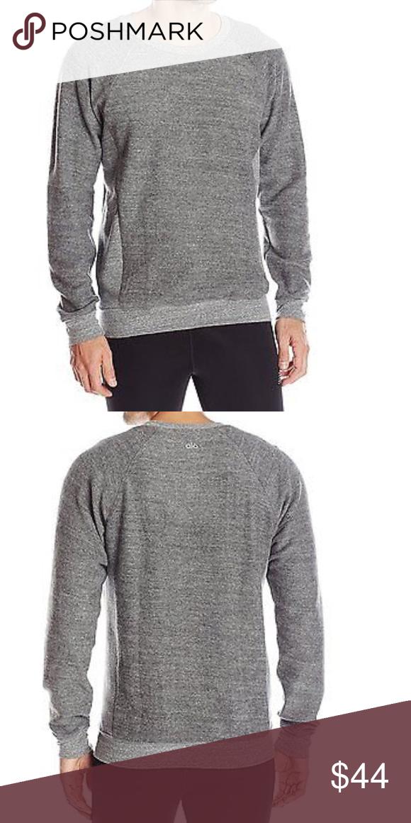 1313eca59b1d69 Men s Alo Yoga Relaxed Crew Neck Sweatshirt Gray NWT   FIRM ALO Yoga Shirts  Sweatshirts   Hoodies