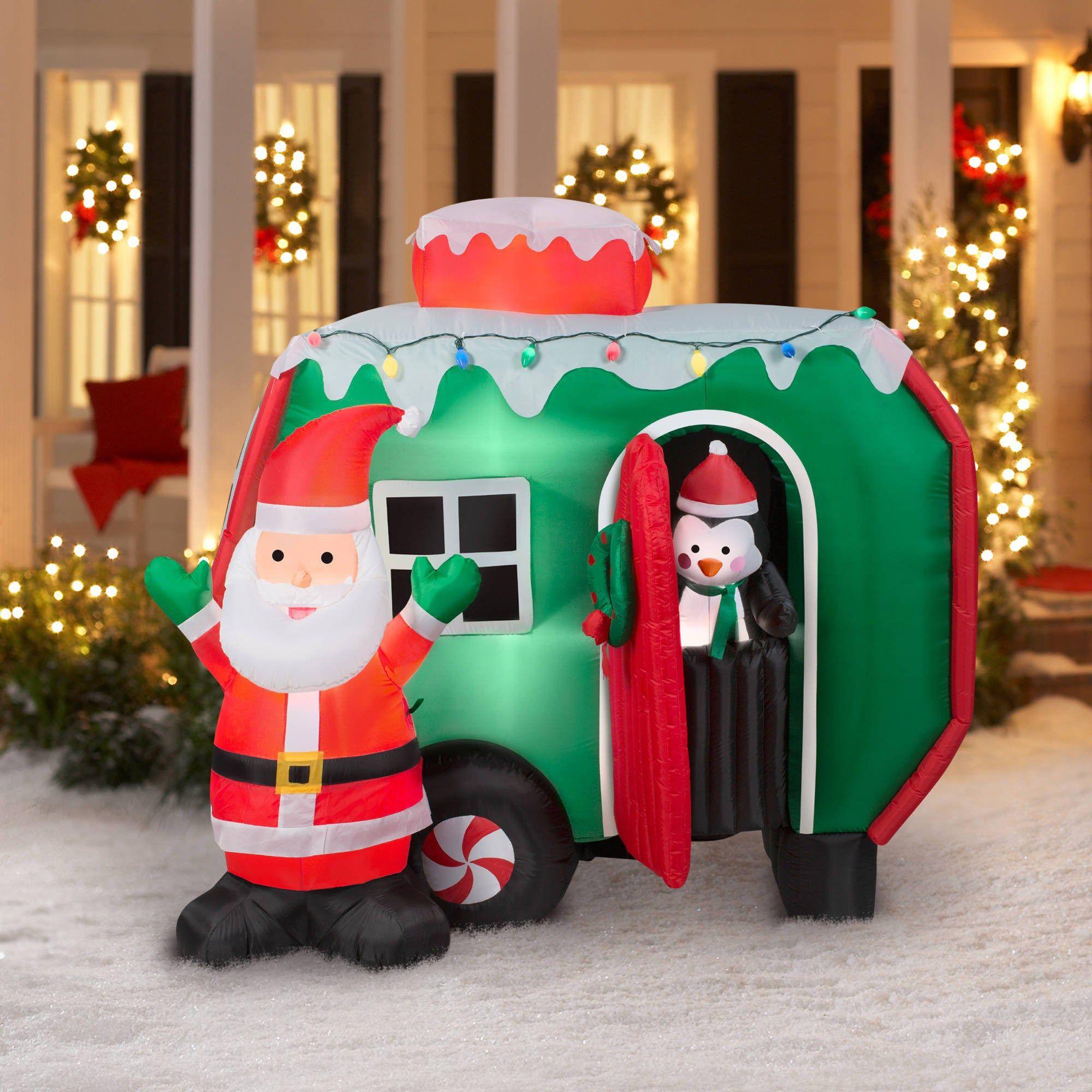 Santa On Tractor Decoration Canada