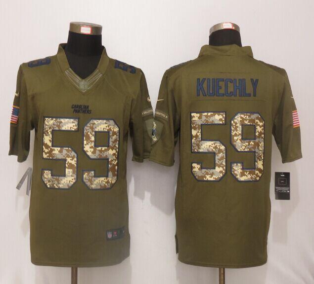 new product 4a435 65cf6 Nike Carolina Panthers 59 Luke Kuechly Green Salute To ...