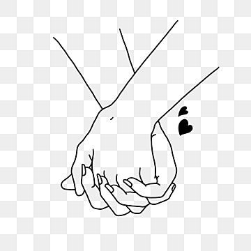 Couple Holding Hands Valentines Day Line Drawing Couple Hold Hands Valentine S Day Line Drawing Png Transparent Clipart Image And Psd File For Free Download In 2021 Line Drawing Marriage Cartoon Couple