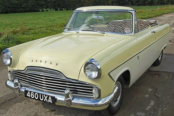 Zodiac 1961 Convertible American Classic Cars Vintage Cars Ford Classic Cars