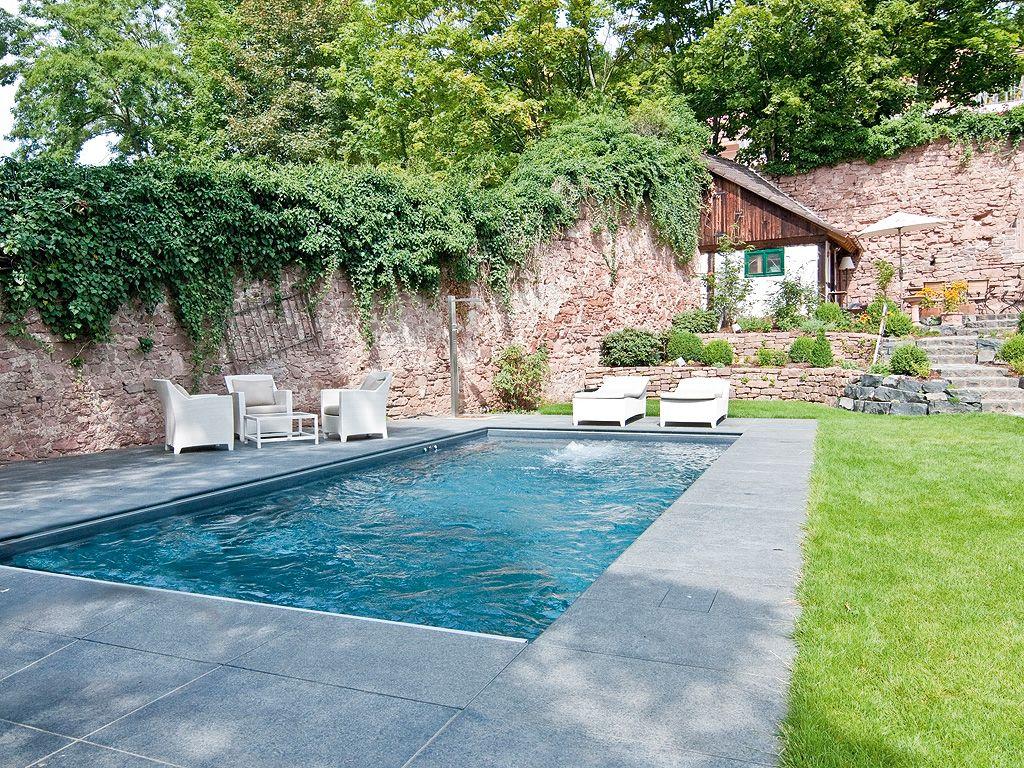 mediterrane garten mit pool – rekem, Garten Ideen