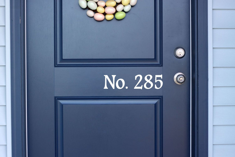 Custom House Number Vinyl Door Decal Address Decals Home Office - Custom vinyl decals for home