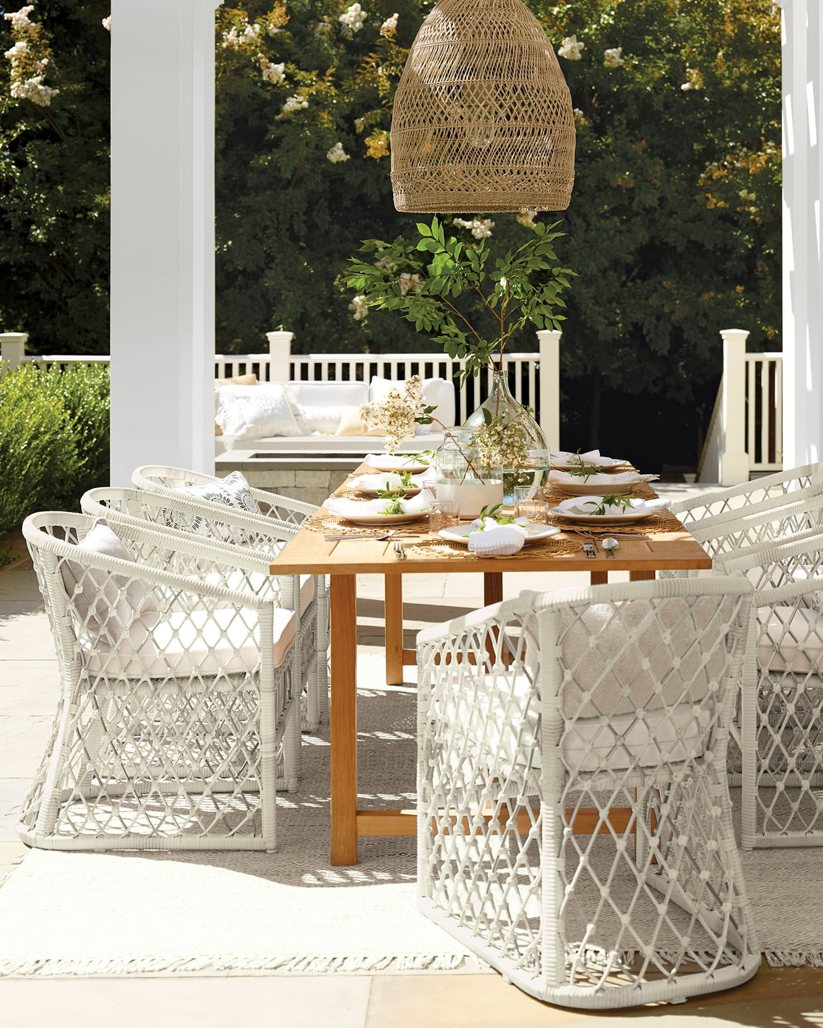 Crosby Teak Dining Table Tables Serena And Lily Outdoor