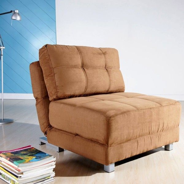 New York Brown Convertible Chair Bed Ccbnykmfxbrn Fabric Gorgeous Overstock Living Room Chairs Design Inspiration