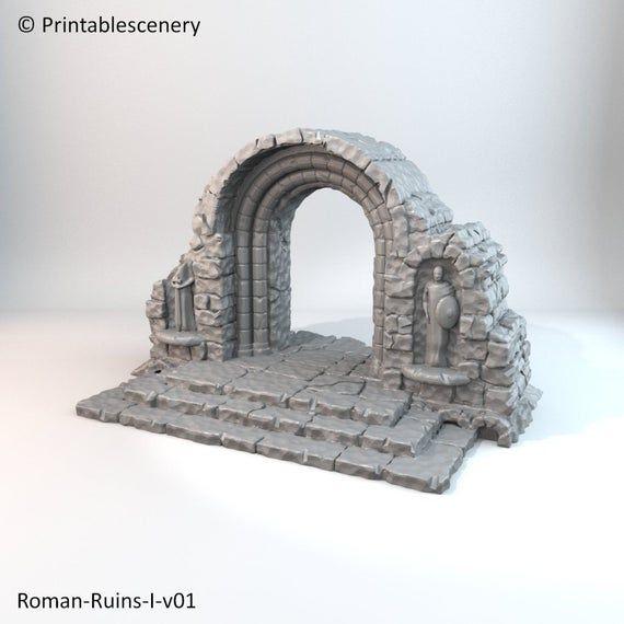 Apocalypse - Roman Ruins Arch 28mm 32mm Wargaming Terrain D&D, DnD, Pathfinder, SW Legion, Warhammer, 40k