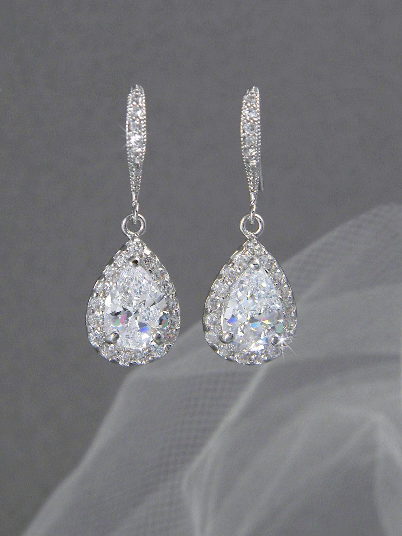 Crystal Bridal earrings Wedding jewelry Swarovski Crystal Wedding
