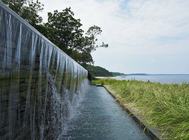 künstlicher Wasserfall Garten Pool Rasen   Schönes   Pinterest ...