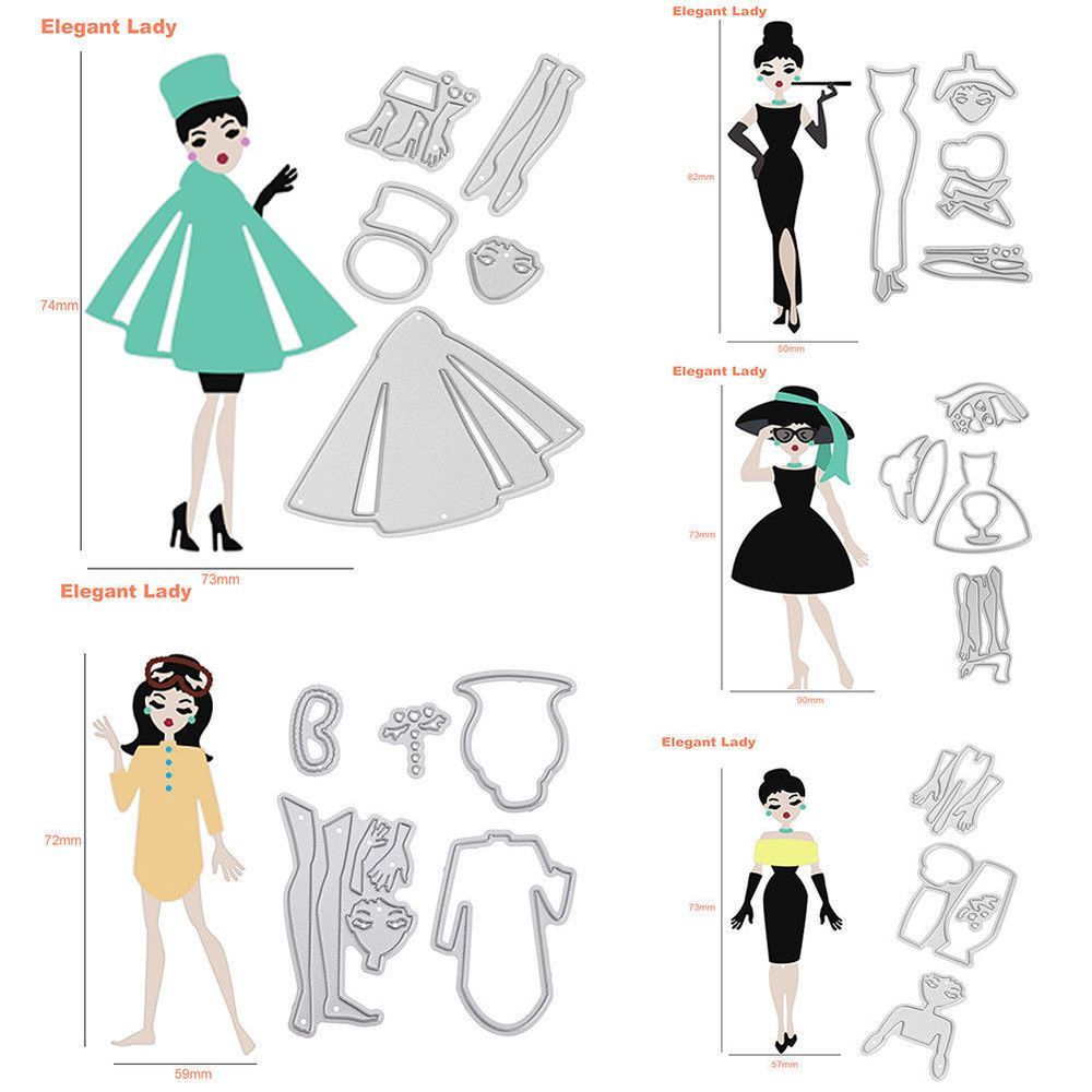 Fashion Girl Metal Cutting Dies Scrapbooking Emboss Paper Card Album Stencil hot