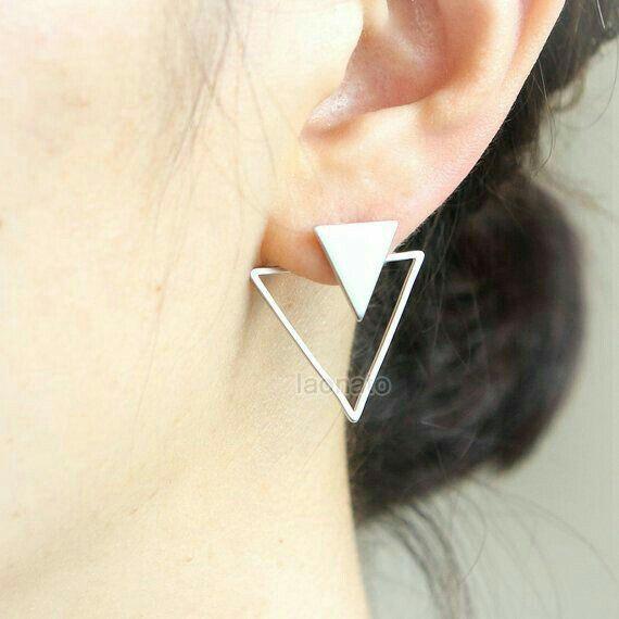 Floating Earrings Bridesmaid Stud Handmade Wedding Jewelry Stud Earrings Ear Jackets EJK003 Gift for Her Studs Bridal Earrings