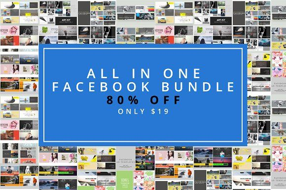 All in One Facebook Bundle Social media template and Cover template - advertising timeline template
