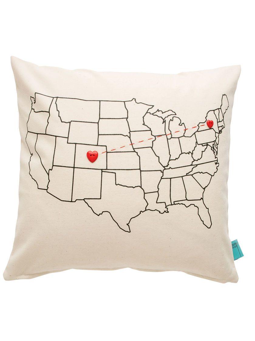 Heart Buttons Pillow Kit Heart Strings Pillow Kit Usa Map Pillow