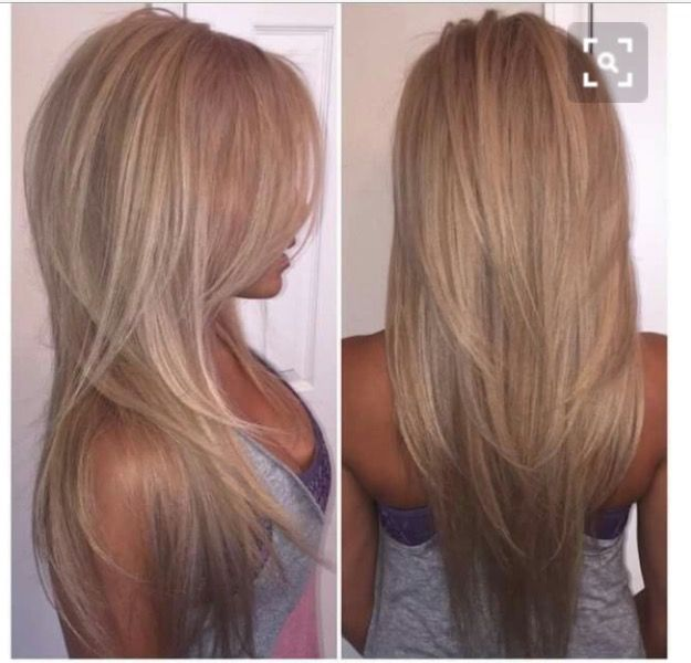 Medium blonde hair with highlights