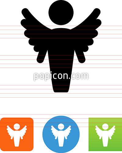 Vector Male Angel Icon
