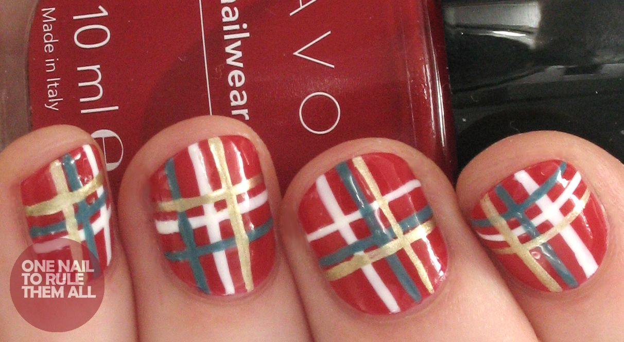 One nail to rule them all winter plaid for avon pretty nail ideas