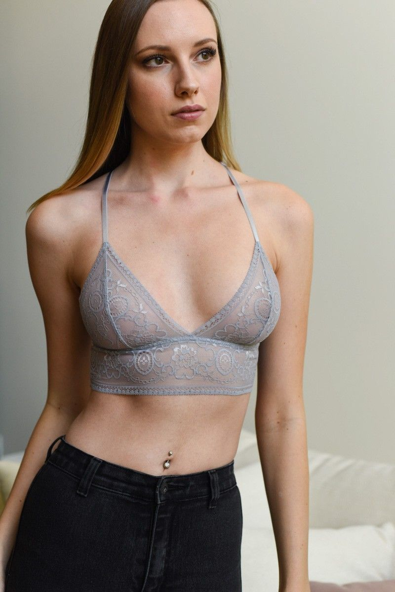ad86fcd6db leto wholesale lingerie intimate chantilly lace longline bra bralette top sexy  see through