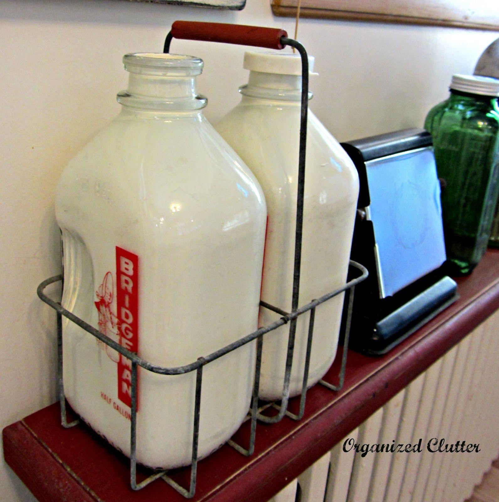 Vintage Glass Milk Bottles In A Wire Carrier Old Milk Bottles Milk Bottle Glass Milk Bottles
