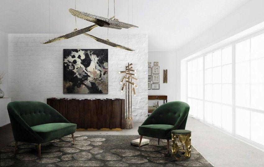 Samt Sessel Velvet Chair Luxus Wohnzimmer Luxury living room - moderne luxus wohnzimmer