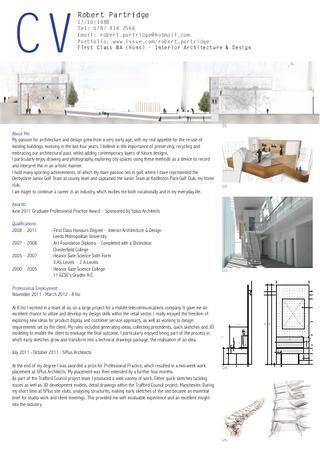 curriculum vitae propuesta para arquitectos y diseo de interiores generacionby