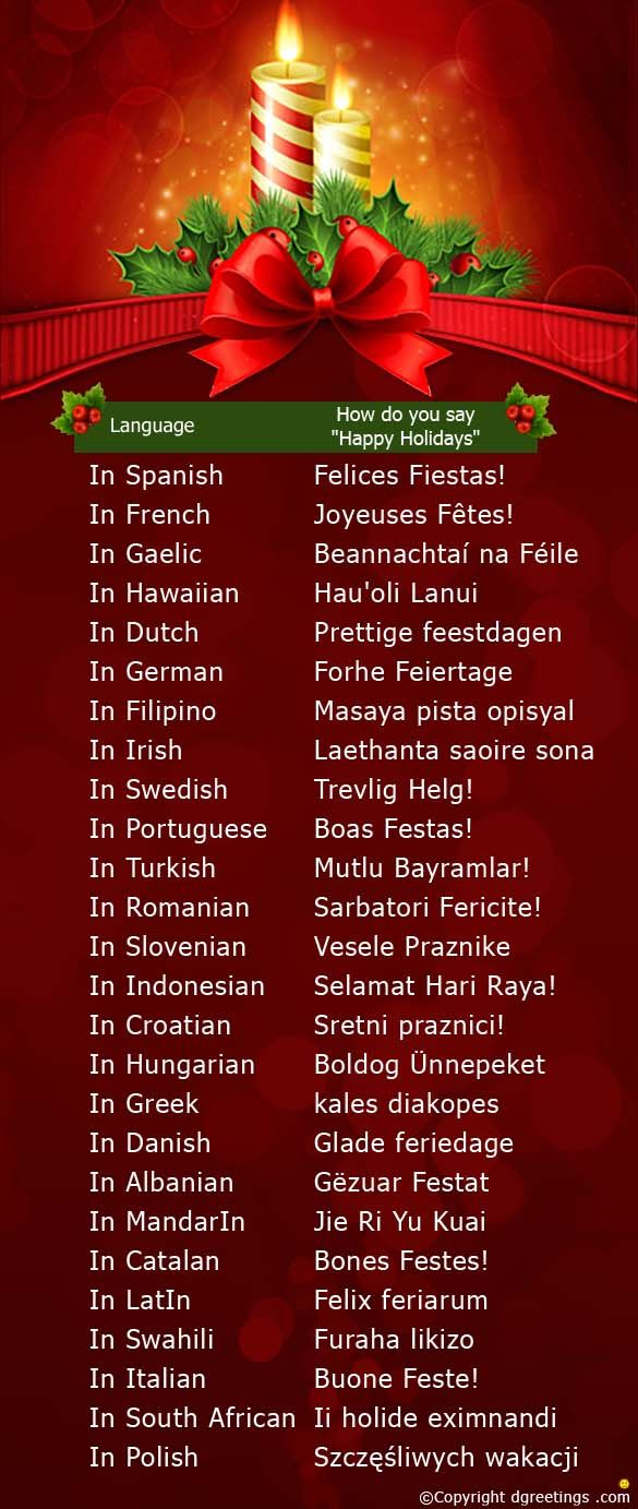 Image Result For Happy Holidays Images In Spanish French - Spanish global language