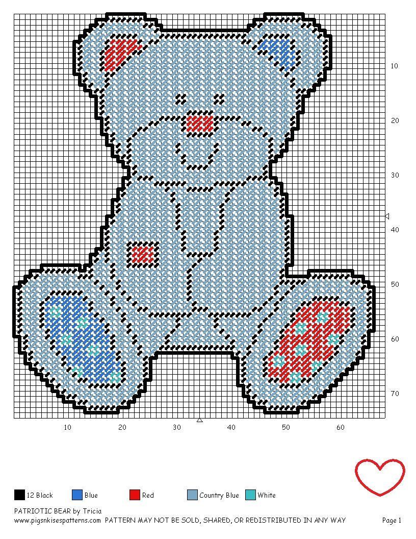 Patriotic bear pg plastic canvas baby room pinterest