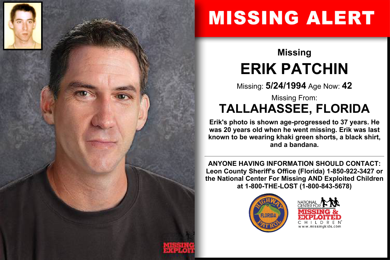 ERIK PATCHIN, Age Now: 42, Missing: 05/24/1994  Missing From