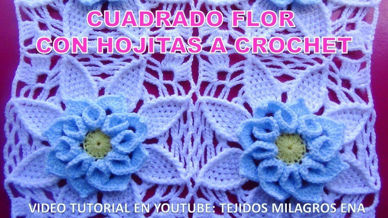 Como Unir Tejiendo El Cuadrado Flor A Crochet Con Hojitas Paso A Paso En Flores A Crochet Cuadros A Crochet Cuadrados De Ganchillo
