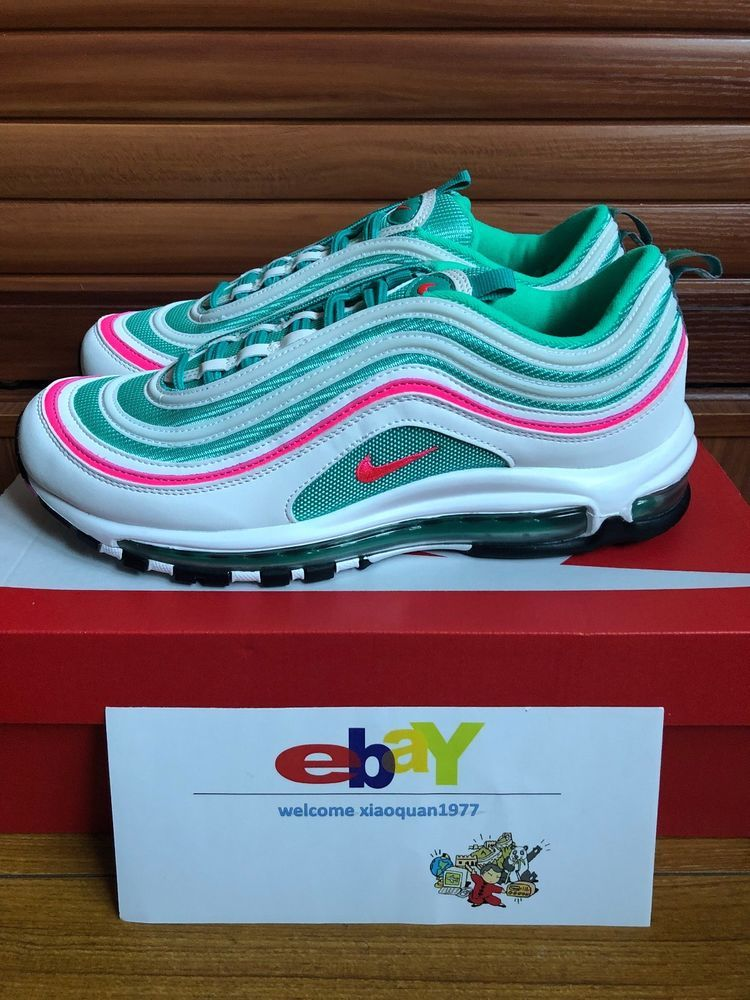 Details about Nike Air Max 97 GS White Pink Green South
