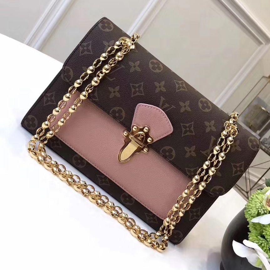 6685cf1d Louis Vuitton Monogram Canvas and Leather Victoire Chain Shoulder ...
