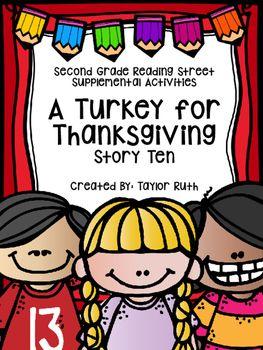a turkey for thanksgiving supplemental activities second grade reading street school reading. Black Bedroom Furniture Sets. Home Design Ideas