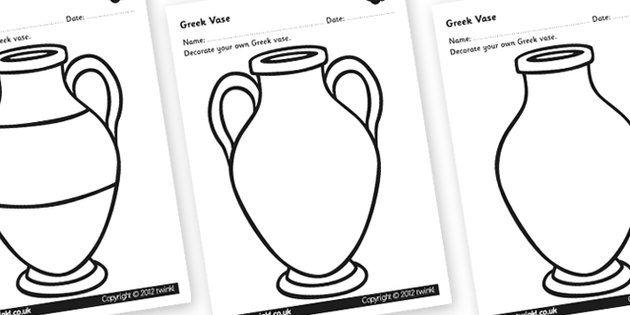 Greek Vase Design Sheet Decorate A Greek Vase Greek Vase Template